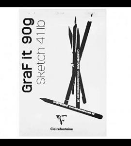 Bloco de Papel Para Desenho Branco Graf It A5 80 Folhas Clairefontaine