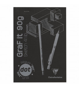 Bloco de Papel Para Desenho A5 Graf It DOT 80 Folhas Clairefontaine
