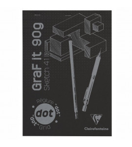 Bloco de Papel Para Desenho A4 Graf It DOT 80 Folhas Clairefontaine