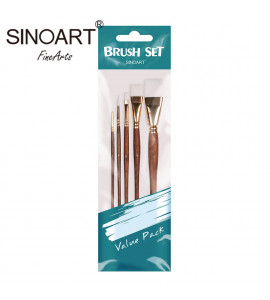Kit de Pincel para Pintura Artística Sinoart C/5 SFB0278