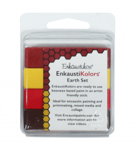 Kit Encáustica Hot Sticks 4 Cores Terra