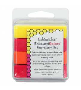Kit Encáustica Hot Sticks 4 Cores Flourescent