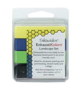 Kit Encáustica Hot Sticks 4 Cores Paisagens