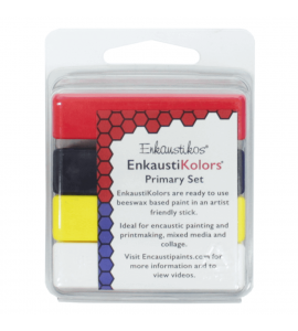 Kit Encáustica Hot Sticks 4 Cores Primárias