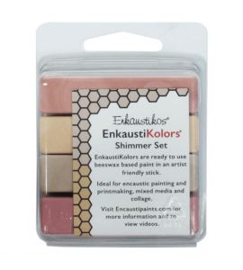 Kit Encáustica Hot Sticks 4 Cores Cintilantes