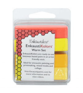 Kit Encáustica Hot Sticks 4 Cores Quentes