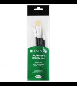 Kit de Pincéis Para Pintura Acrílica Reeves 4 Unidades