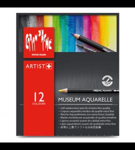 Lápis Aquarelável Museum Caran D'Ache 12 Cores