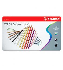 Lápis de Cor Aquarelável Aquacolor Stabilo 36 Cores