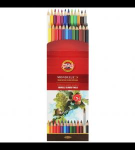 Lápis Aquarelável Koh-I-Noor Arte 24 Cores 3718A