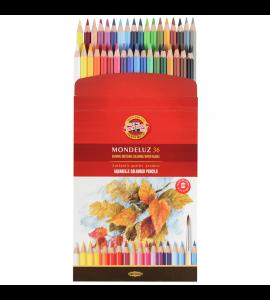 Lápis Aquarelável Koh-I-Noor Arte 36 Cores 3719A