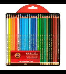 Lápis Aquarelável Koh-I-Noor Mondeluz 24 Cores Paisagens