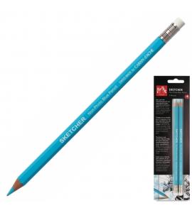 Lápis Azul Caran D'Ache Apagável Sketcher 02 Unidades