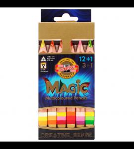 Lápis de Cor 3 em 1 Multicolorido 12 Cores 3404