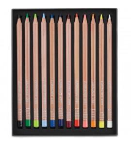 Estojo Lápis de Cor Luminance Caran d'Ache 12 Cores