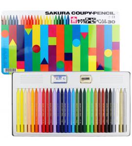 Lápis de Cor Integral Coupy Sakura 30 Cores