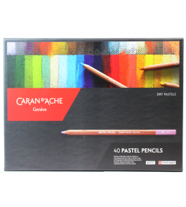 Lápis Pastel Seco Caran D'Ache 40 Cores
