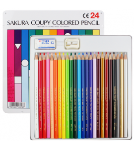Lápis de Cor Sakura Coupy 24 Cores