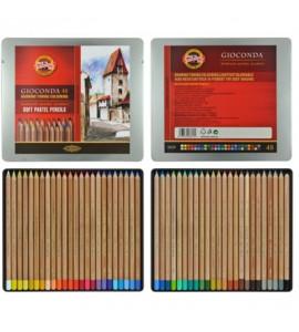 Estojo Lápis Pastel Seco Koh-I-Noor 48 Cores