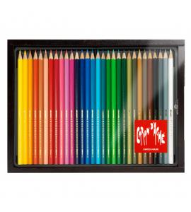 Estojo Lápis Aquarelável Swisscolor Caran D'Ache 30 Cores Estojo
