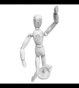 Boneco Articulado Para Desenho 30cm Branco Vintage