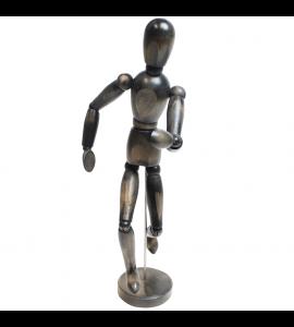 Boneco Articulado Para Desenho 30cm Cinza Vintage