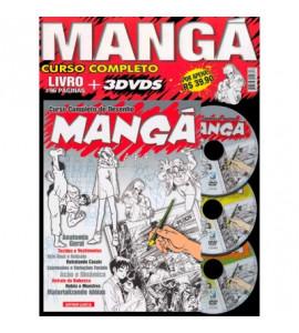 Mangá Curso Completo Livro + 3 DVDS
