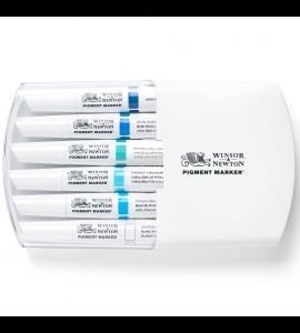 Marcador Winsor & Newton Pigment Marker Tons de Azul