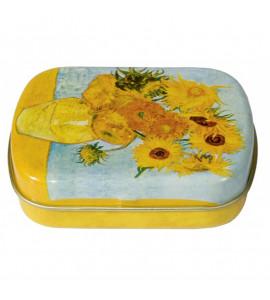 Caixa De Metal Personalizada Van Gogh Sunflower