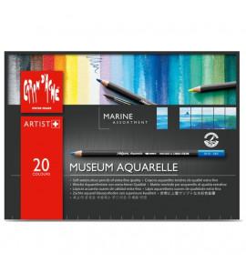 Lápis Aquarelável Museum Caran D'Ache Marine 20 Cores