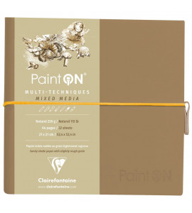 Bloco de Papel Paint On Clairefontaine Natural Multi Técnicas 250g