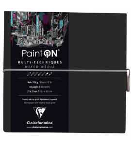 Bloco de Papel Paint On Clairefontaine Preto Multi Técnicas 250g