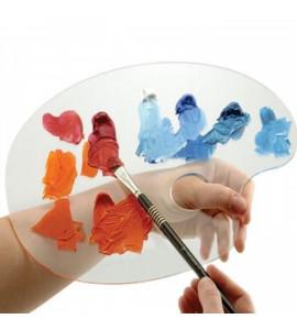 Paleta Acrílica Transparente Para Pintura