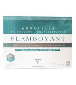Bloco de Papel Para Aquarela Flamboyant 300g 24X32cm 20 Folhas