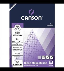 Bloco de Papel Milimetrado A4 Canson 63g/m²
