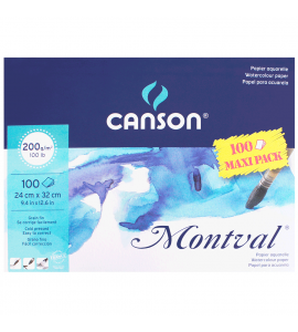 Bloco de Papel Para Aquarela Montval Max Pack Canson A4+ 200g/m²