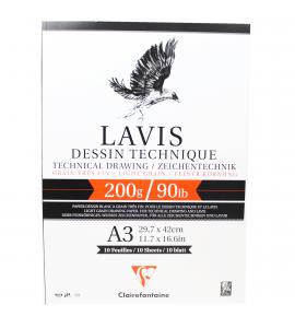 Bloco de Papel Para Desenho Técnico LAVIS A3 200g 10 folhas