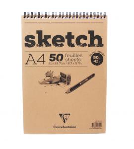 Bloco Sketchbook Desenho A4 50 Folhas Clairefontaine