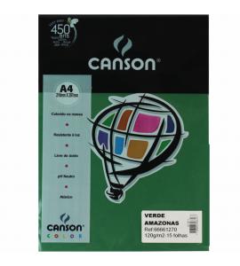 Papel Vivaldi Colorido A4 120g/m² 15 Fl 27 Verde Amazonas