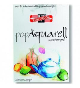 Papel Para Aquarela Koh-I-Noor A4 250gr Bloco Com 10 Folhas