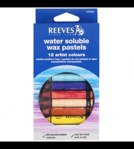 Giz Pastel Aquarelável Reeves 12 Cores