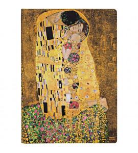 Paperblanks Klimt's The Kiss Pautado Capa Dura Midi