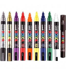 Caneta Posca Uni Ball PC-5M 10 Cores