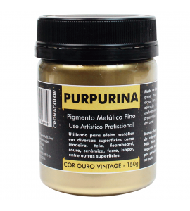 Purpurina Metálica Ouro Vintage 150g Cromacolor