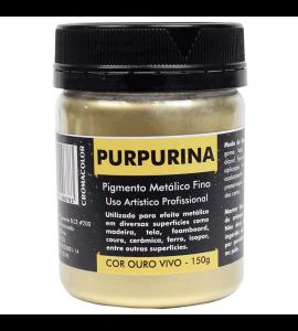 Purpurina Metálica Ouro Vivo 150g Cromacolor