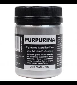 Purpurina Metálica Prata 80g Cromacolor