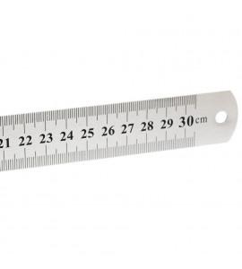 Régua de Aço 030 cm