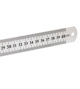 Régua de Aço 040 cm