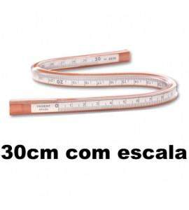 Régua Flexível Trident com Escala 30cm 2230