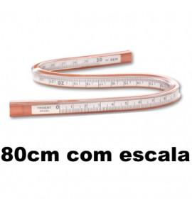 Régua Flexível Trident com Escala 80cm 2280